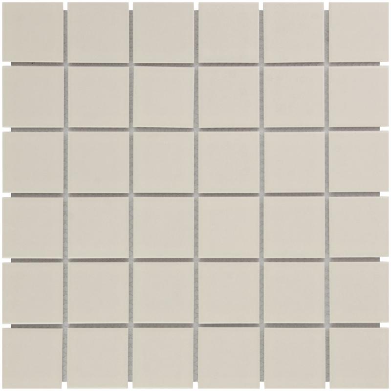 Mozaiek Geglazuurd Porselein Creme  48x48mm TMF Barcelona AF13044