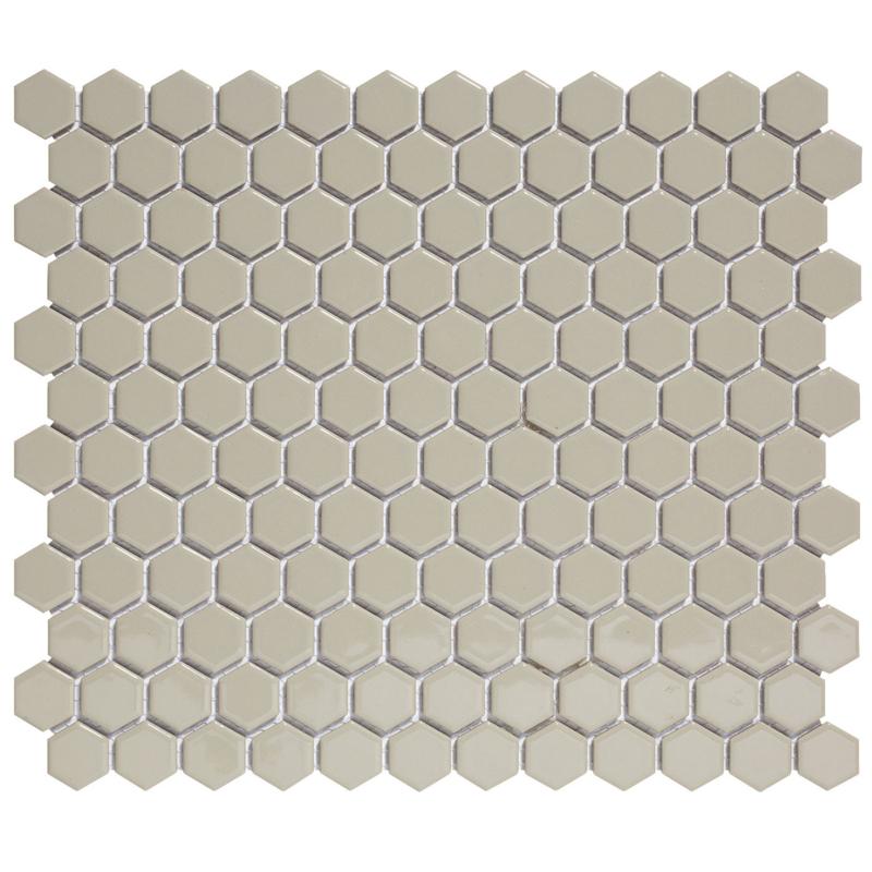 Mozaiek Hexagon Grijs  23x26mm  TMF Barcelona AFH23300