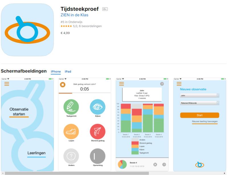 Tijdsteekproef-app | €4,99 in Appstore of Google Play Store