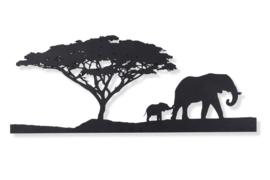 Afrika, olifant met boom