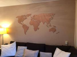 Wanddecoratie Wereldkaart vanaf 94 x 44 cm