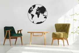Wanddecoratie Globe 60 x 60 cm