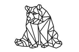 Geometrische luie beer