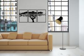 Wanddecoratie Drieluik Boom