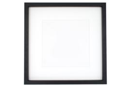 Baklijst zwart 32 x 32 cm
