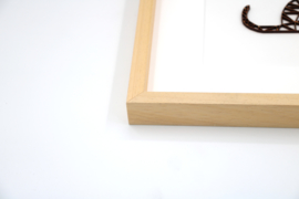 Baklijst naturel 32 x 32 cm