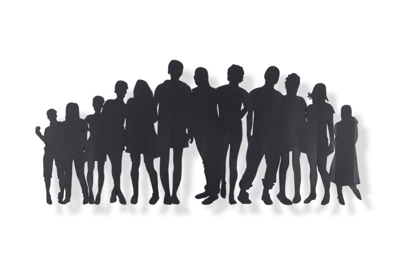 Familie of groep mensen 65x29 cm
