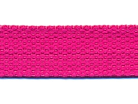 Fuchsia 25mm Cotton Look Tassenband