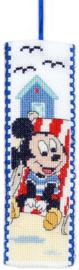 Mickey in strandstoel Aida boekenlegger Vervaco