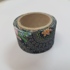 Zwarte Flower Power 2mx30mm Pimptape Oaki Doki