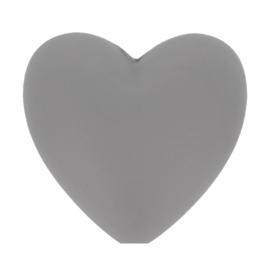 Donker grijze hartjes Siliconen kralen Opry
