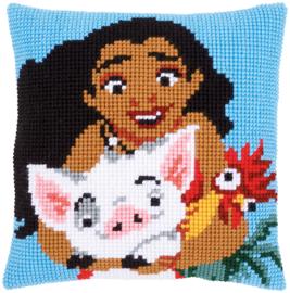 Moana Disney Canvas Cushion Vervaco