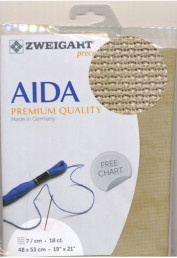 Vintage Aida 7kr/cm - 18ct 48x53cm