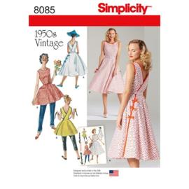 8085 H5 Misses' Vintage 1950s Wrap Dress Simplicity 32-40