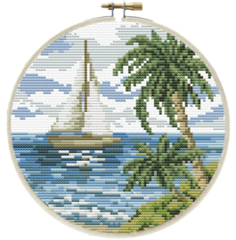 Sailing Away Voorbedrukt Borduurpakket Needleart World