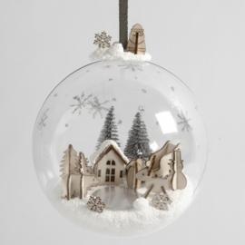 Miniatuurwereld in een Kerstbal