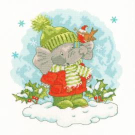 Elly's Snow Day Aida telpakket by Simon Taylor Kielty - Bothy Treads