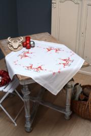 Zingende kerstkabouters tafelkleed telpakket Vervaco