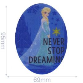 Elsa Never Stop Dreaming Frozen Opstrijkbare Applicatie
