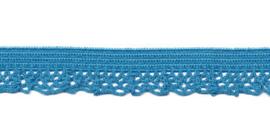 Midden blauw 12mm Elastisch Kant