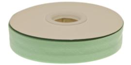 Mintgroen gevouwen biaisband 20 mm