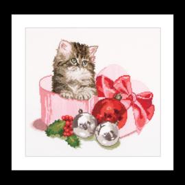 Christmas Kitten Aida Telpakket Thea Gouverneur