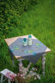 Botanische bladeren voorbedrukt tafelkleed- Vervaco