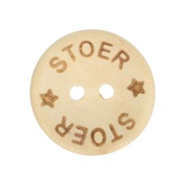 Houten knoop Stoer 15mm