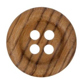 23mm Houten Knoop