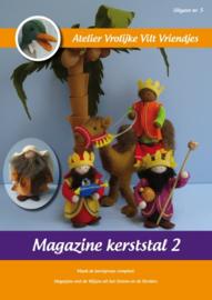 Magazine Kerststal 2 Vrolijke Vilt Vriendjes