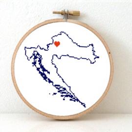 Kroatië Borduurpatroon