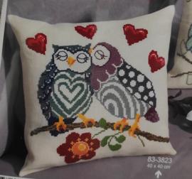 Dear owls aida borduurpakket - Permin of kopenhagen