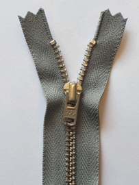 577 Broekrits Grijs Fijn Zilver 20cm YKK