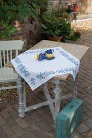 Blue Twigs Aida Tablecloth Vervaco