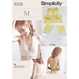 8228 A Misses' Soft Cup Bras and Panties Simplicity