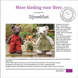 Meer Kleding voor Beer Patroonboekje ZijMaaktHet