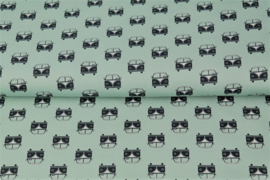 VW T1 groen 100% katoen Stenzo
