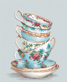 Turquoise Themed Teacups Aida Luca-S Telpakket