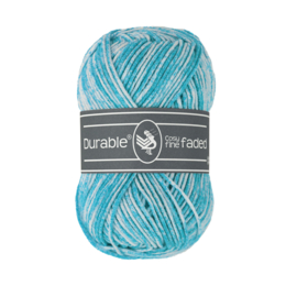 371 Turquoise Cosy fine faded Durable