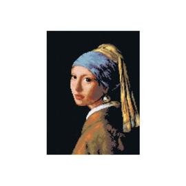 Meisje met de Parel Jan Vermeer Voorbedrukt Stramien Deco-Line