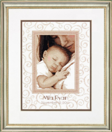 Peaceful Baby Birth Record Aida telpakket - Dimensions