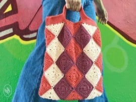 Not Your Typical Harlequin Shopper Gehaakt Durable Double Four
