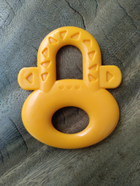 Orange Teether with Pattern