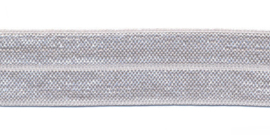 Licht Grijs 20mm Elastisch Biaisband