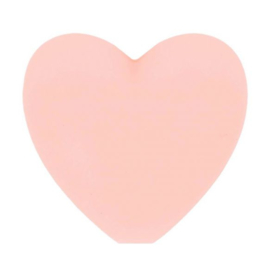 Zachte roze hartjes Siliconen kralen Opry