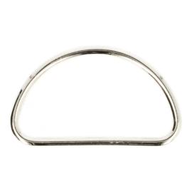 Gesloten D-Ring metaal 50mm nikkel