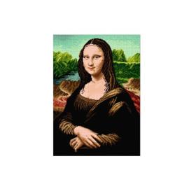Mona Lisa Leonardo da Vinci Voorbedrukt Stramien Deco-Line