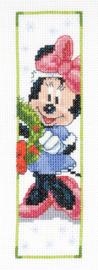Boekenlegger Hoera Kerst Minnie Mouse Aida Telpakket Vervaco