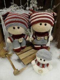 Funny Snowy Set Crochet Kit