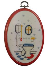 Toilet Telpakket met Kunststoflijst Vervaco